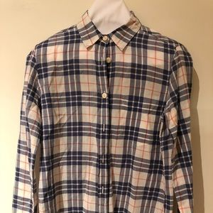 JCrew cotton checker shirt